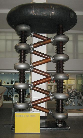 Particle accelerator - A Cockcroft-Walton generator (Philips, 1937), residing in Science Museum (London).