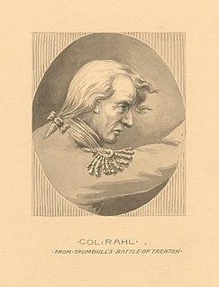 Johann Rall Commander of Hessian troops