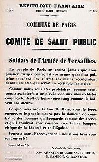 Affiche du Comité de Salut Public