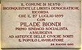 Comune di sesto fiorentino, interno, lapide pilade biondi, 1950.jpg