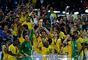 2013 FIFA Confederations Cup - Brazil won the competition after beating Spain 3–0 in the final.