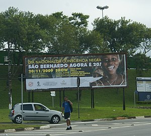 Black Awareness Day - An advertisement about Black Awareness Day in São Bernardo do Campo, Brazil.
