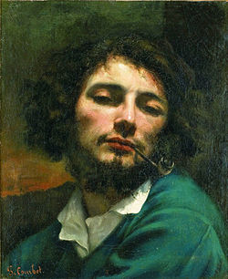 COURBET Gustave Self-Portrait with Pipe, ca. 1849