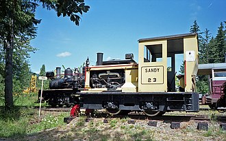 BC Forest Discovery Centre - Image: Cowichan Valley Railway diesel locomotive 23 (Sandy) Plymouth 8 ton DLC6 at Forest Museum Duncan BC 16 Jul 1995