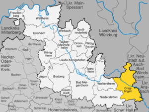 Creglingen - Image: Creglingen im Main Tauber Kreis