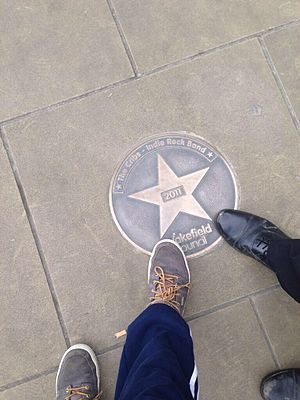 The Cribs - The Cribs' Star on the Wakefield Walk Of Fame