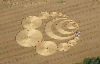 Crop circle - Aerial view of a crop circle in Switzerland