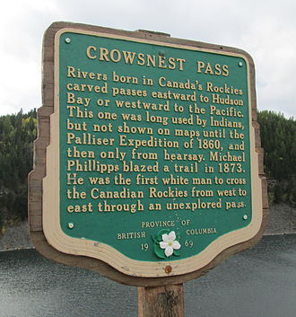 Crowsnest Pass - Crowsnest Pass Highway 3. First Nations long used the Crowsnest Pass but it was not shown on maps until the Palliser Expedition of 1860.