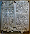 Crucifixion, Madonna in Majesty, and saints (Diptych of Rambona), south-central Italy, c. 900 AD, ivory - Vatican Museums - DSC00716.jpg
