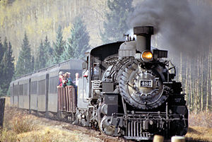 Narrow-gauge railroads in the United States - A steam locomotive of the C&TS RR
