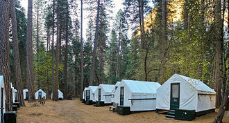 Curry Village, California - Tent cabins in Curry Village