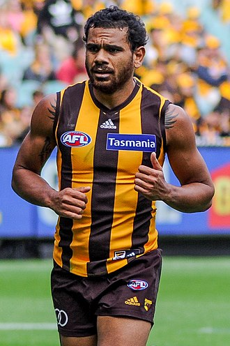 Cyril Rioli - Rioli playing for Hawthorn in April 2017