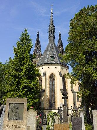 Vyšehrad Cemetery - Image: Czech 2013 Prague Vyšehrad Saints Peter and Paul