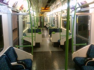 London Underground D78 Stock - Prototype interior refurbishment