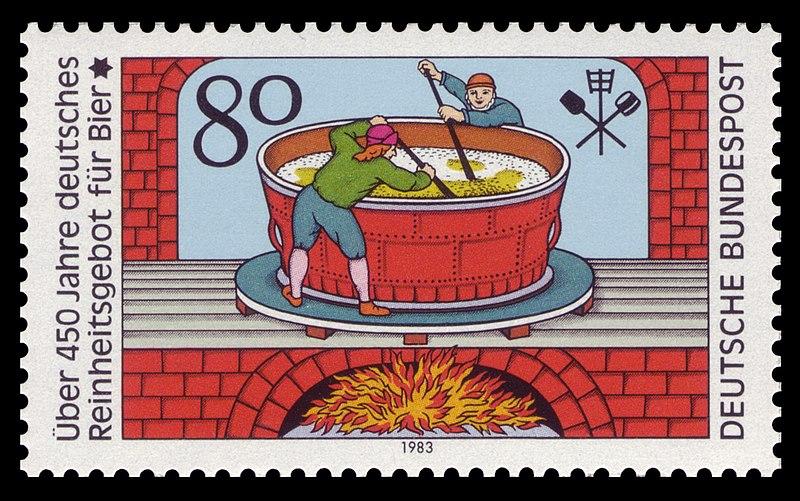 DBP 1983 1179 Reinheitsgebot Bier.jpg