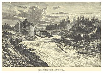 Bracebridge, Ontario - Bracebridge and Muskoka River circa 1880
