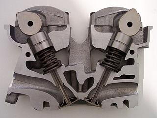 Overhead camshaft engine