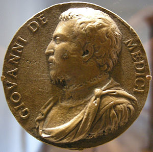 Danese Cattaneo - Medal by Danese Cattaneo: profile of Giovanni dalle Bande Nere, 1546