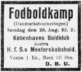 Danmarksmesterskabsturneringen football match advertisement Horsens Social-Demokrat 25.08.1927.png