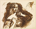 Dante Gabriel Rossetti - Half-length sketch of a young Woman - Google Art Project.jpg