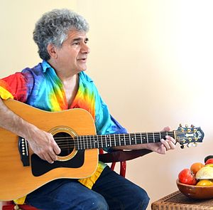 Darryl Cherney - Darryl Cherney playing guitar, May 2015