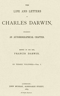 The Autobiography of Charles Darwin cover