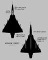 Dassault Mirage 2000C silhouette showing external stores configuration.png
