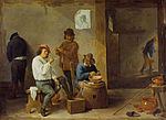 David Teniers the Younger - Smokers around a Barrel.jpg