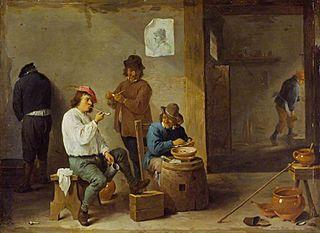 Smokers around a Barrel