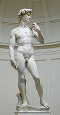 A famous depiction of male beauty in Michelangelo's David.