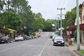 Dayboro, Queensland - Williams Street, the main street of Dayboro, looking toward the Crown Hotel