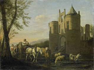 The main gate to Egmond Castle