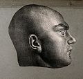 Death mask of Martin, a parricide. Lithograph, c. 1835. Wellcome V0009514EL.jpg