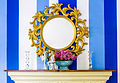 Decorative mirror at SixSenses Kitchen, Yogyakarta, 2016-01-23.jpg