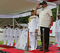 Defence Minister Manohar Parrikar at the commissioning of INS Vajrkosh.jpg