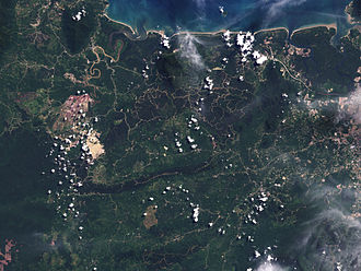 Biosequestration - NASA Earth Observatory, 2009. Deforestation in Malaysian Borneo.