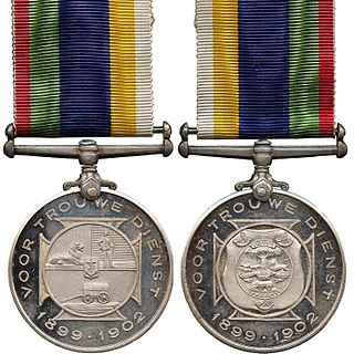 Dekoratie voor Trouwe Dienst South African military decoration for Boer officers of the Second Boer War