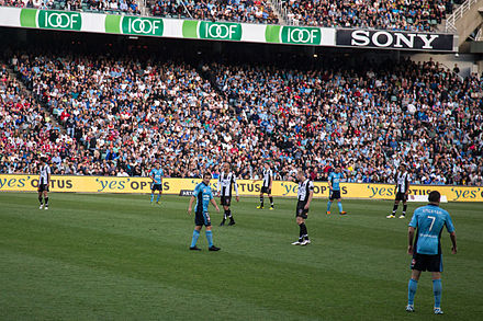 Newcastle Jets playing against Sydney FC on October 2012. Del Piero, Sydney FC-Newcastle Jets.jpg
