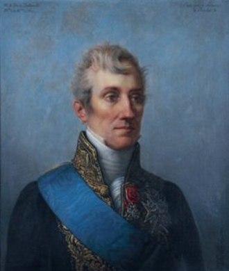 Ambroise-Polycarpe de La Rochefoucauld - 1827 portrait by Pierre-Louis Delaval