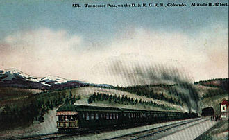 Tennessee Pass (Colorado) - Image: Denver and Rio Grande Western train at Tennessee Pass