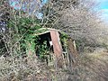Derelict shepherd's hut, Guildford.jpg