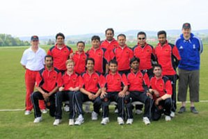 Germany national cricket team - Image: Deutsche Cricket Nationalmannschaft in Österreich 2012