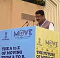 """Dharmendra Pradhan addressing at the 2nd Session """"Global Thought Leaders on Sustainable Mobility"""", during the Global Mobility Summit, organised by NITI Aayog, in New Delhi.JPG"""