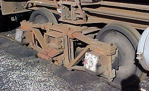 South African type X-17 water tender - Diamond frame bogie