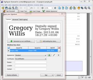 DigiSigner - Image: Digisigner screenshot 4.0