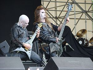 Dimmu Borgir - Galder and ICS Vortex live on Gods of Metal Festival 2007.