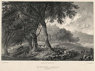 Dinevwr Castle: on the Towy, Carmarthanshire, morning