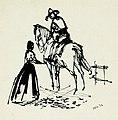 Disegno per copertina di libretto, disegno di Peter Hoffer per La fanciulla del West (1954) - Archivio Storico Ricordi ICON012479.jpg