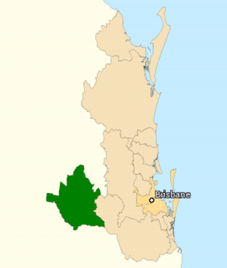 Division of Groom - Division of Groom in Queensland, as of the 2016 federal election.