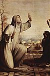 St. Catherine of Siena. Detail of a work by Domenico Beccafumi, c. 1515